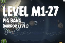 Angry Birds Space Pig Bang Mirror Level M1-27 Walkthrough