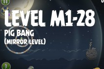 Angry Birds Space Pig Bang Mirror Level M1-28 Walkthrough