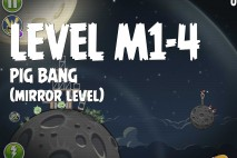 Angry Birds Space Pig Bang Mirror Level M1-4 Walkthrough