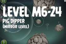 Angry Birds Space Pig Dipper Mirror Level M6-24 Walkthrough
