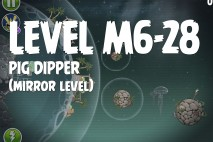 Angry Birds Space Pig Dipper Mirror Level M6-28 Walkthrough