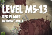 Angry Birds Space Red Planet Mirror Level M5-13 Walkthrough