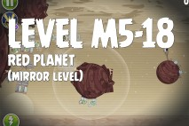 Angry Birds Space Red Planet Mirror Level M5-18 Walkthrough
