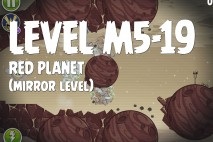 Angry Birds Space Red Planet Mirror Level M5-19 Walkthrough