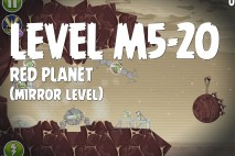 Angry Birds Space Red Planet Mirror Level M5-20 Walkthrough