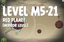 Angry Birds Space Red Planet Mirror Level M5-21 Walkthrough