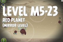 Angry Birds Space Red Planet Mirror Level M5-23 Walkthrough