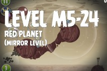 Angry Birds Space Red Planet Mirror Level M5-24 Walkthrough