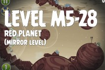 Angry Birds Space Red Planet Mirror Level M5-28 Walkthrough