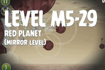 Angry Birds Space Red Planet Mirror Level M5-29 Walkthrough