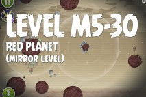 Angry Birds Space Red Planet Mirror Level M5-30 Walkthrough