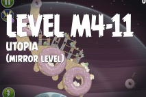 Angry Birds Space Utopia Mirror Level M4-11 Walkthrough
