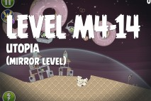 Angry Birds Space Utopia Mirror Level M4-14 Walkthrough
