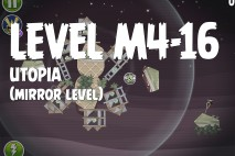 Angry Birds Space Utopia Mirror Level M4-16 Walkthrough