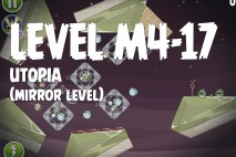 Angry Birds Space Utopia Mirror Level M4-17 Walkthrough