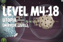 Angry Birds Space Utopia Mirror Level M4-18 Walkthrough