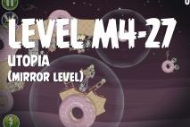 Angry Birds Space Utopia Mirror Level M4-27 Walkthrough