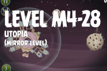 Angry Birds Space Utopia Mirror Level M4-28 Walkthrough