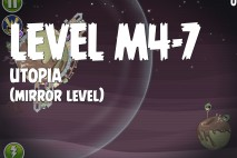 Angry Birds Space Utopia Mirror Level M4-7 Walkthrough