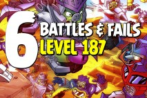Angry Birds Transformers Epic Battles & Fails – Part 6 – Level 187