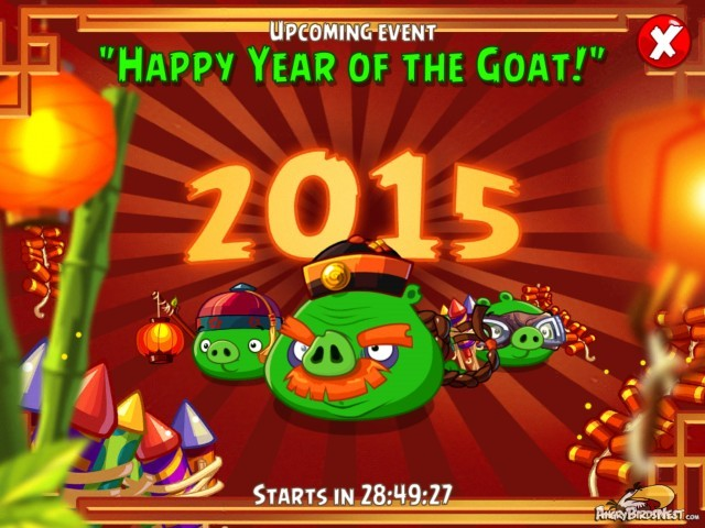 Angry Birds Epic Happy Year of the Goat Tournament