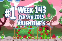Angry Birds Friends 2015 Valentine's Day Tournament Level 1 Week 143 Walkthrough