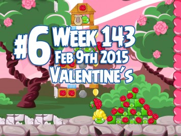 Angry Birds Friends Week 143 Valentines Level 6