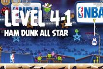 Angry Birds Seasons Ham Dunk Level 4-1 Walkthrough