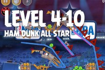 Angry Birds Seasons Ham Dunk Level 4-10 Walkthrough