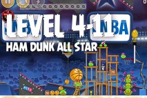 Angry Birds Seasons Ham Dunk Level 4-11 Walkthrough