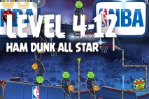 Angry Birds Seasons Ham Dunk Level 4-12 Walkthrough