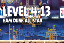 Angry Birds Seasons Ham Dunk Level 4-13 Walkthrough