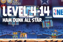 Angry Birds Seasons Ham Dunk Level 4-14 Walkthrough