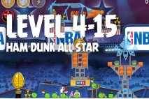 Angry Birds Seasons Ham Dunk Level 4-15 Walkthrough