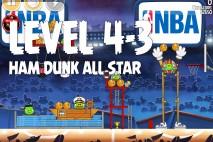 Angry Birds Seasons Ham Dunk Level 4-3 Walkthrough