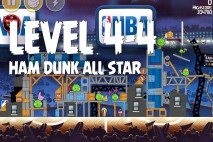 Angry Birds Seasons Ham Dunk Level 4-4 Walkthrough