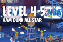 Angry Birds Seasons Ham Dunk Level 4-5 Walkthrough