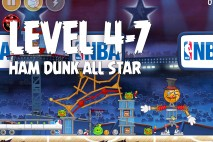 Angry Birds Seasons Ham Dunk Level 4-7 Walkthrough