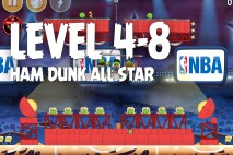 Angry Birds Seasons Ham Dunk Level 4-8 Walkthrough