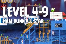 Angry Birds Seasons Ham Dunk Level 4-9 Walkthrough
