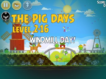 Angry Birds Seasons The Pig Days Level 2-16