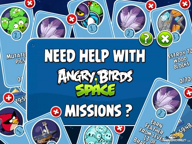 Get Help with Angry Birds Space Missions