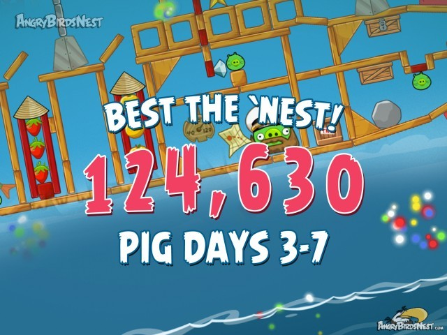 Angry Birds Seasons The Pig Days Level 3-7 Best the Nest