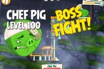 Angry Birds Under Pigstruction Chef Pig Level 100 Boss Fight Walkthrough