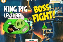 Angry Birds Under Pigstruction King Pig Level 90 Boss Fight Walkthrough