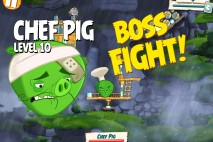 Angry Birds Under Pigstruction Chef Pig Level 10 Boss Fight Walkthrough