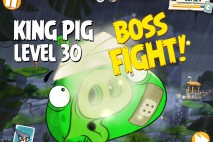 Angry Birds Under Pigstruction King Pig Level 30 Boss Fight Walkthrough