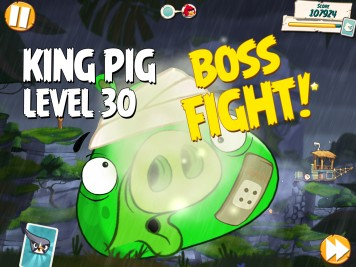 Angry Birds Under Pigstruction Level 30 King Pig Boss Fight