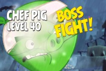 Angry Birds Under Pigstruction Chef Pig Level 40 Boss Fight Walkthrough