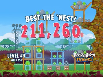 Angry Birds Friends Best the Nest Week 151 Level 4
